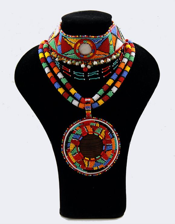 Masai Necklace African Jewellery African Statement Necklace Hippie African Beaded Necklace Statement jewellery Beaded Jewellery Beadwork