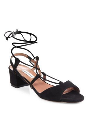 Tabitha Simmons Tasselled Lace-Up Suede Sandals HrIm69G