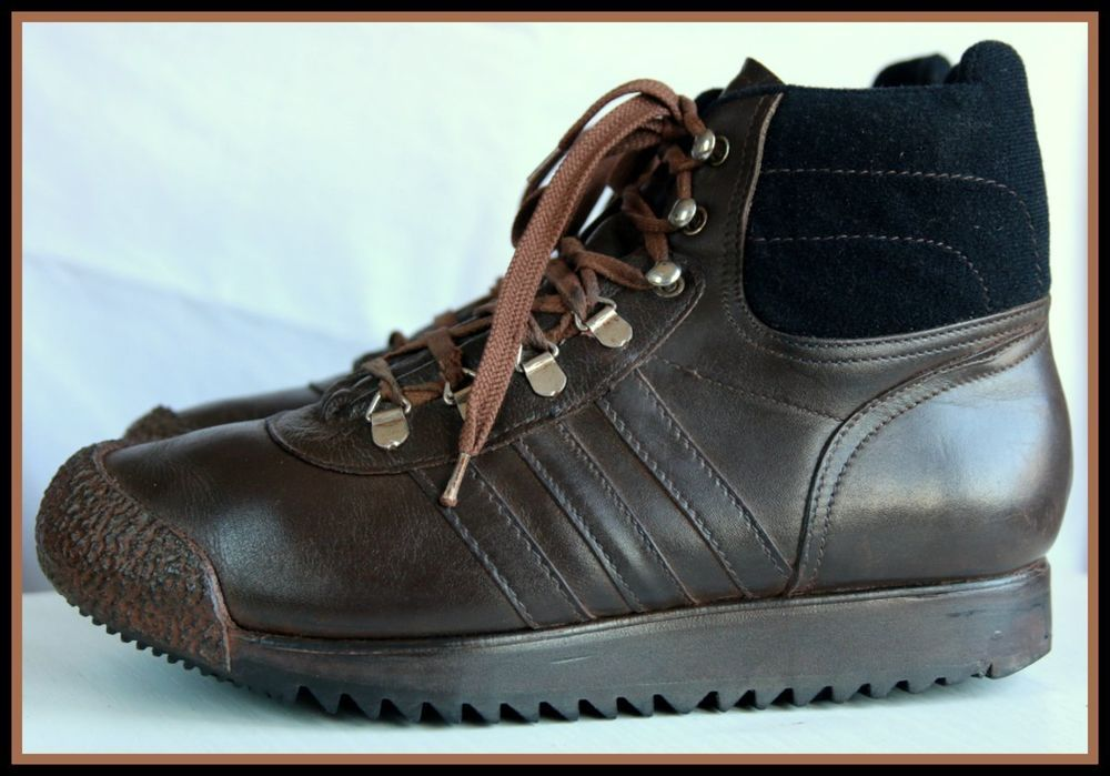 95154649e5ec VINTAGE ADIDAS HIKING BOOTS SHOES YUGOSLAVIA 70 s Preseved Ankle Retro  Unisex  adidas  HikingTrail
