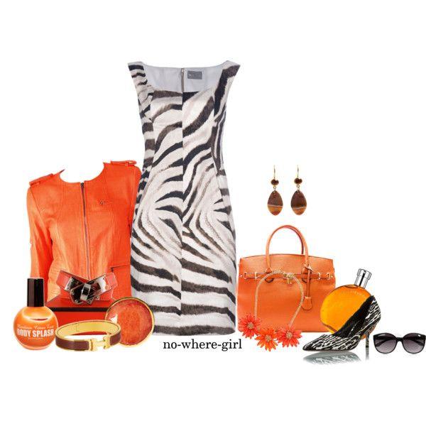 Zebra and orange