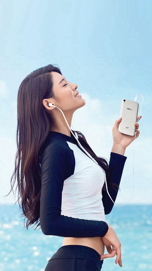 Seolhyun Aoa Kpop Sea Summer Cute Iphone 5s Wallpaper
