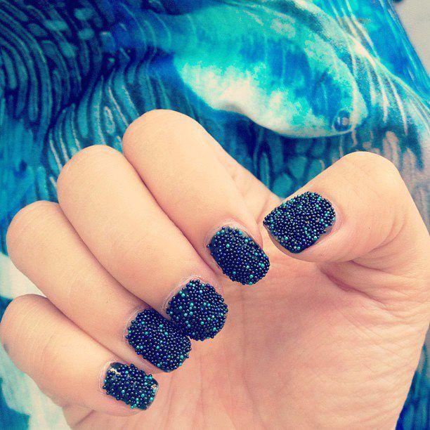 Ocean color nails