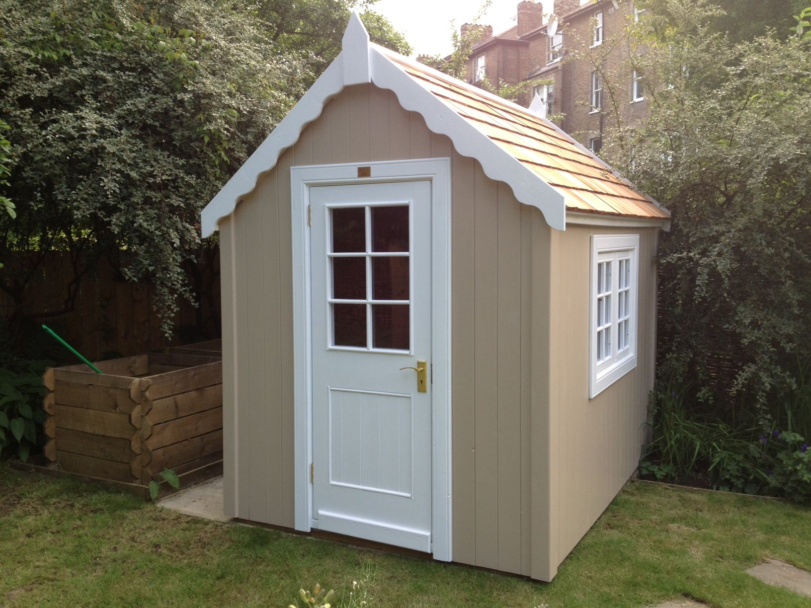 A Combination Shed   2 Colours U0026 2 Styles (gothic Facia And Potting Window  And