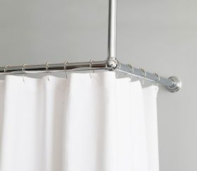 l-shaped shower curtain rod | home shower curtains shower curtain ...