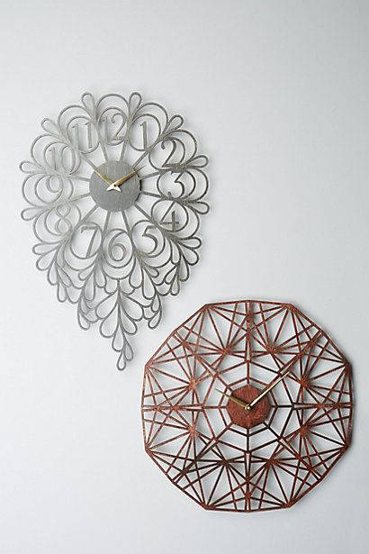 Gatehouse Wall Clock, Dangling Numbers - anthropologie.com #anthrofave