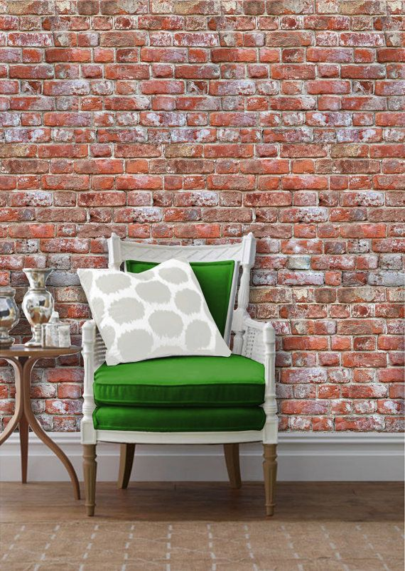 Antique Brick Removable Peel N Stick Wallpaper Custom Lengths To 15 Feet