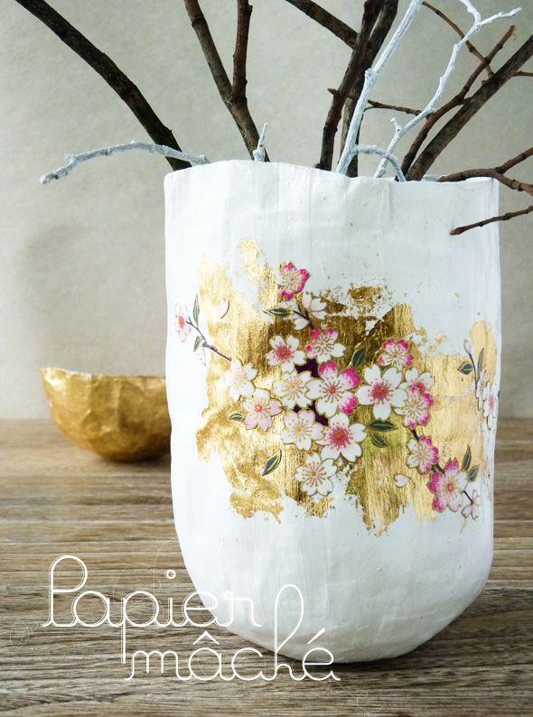 papier mache (en francais) Papier mache Pinterest Papier mâché - Comment Peindre Du Papier Peint