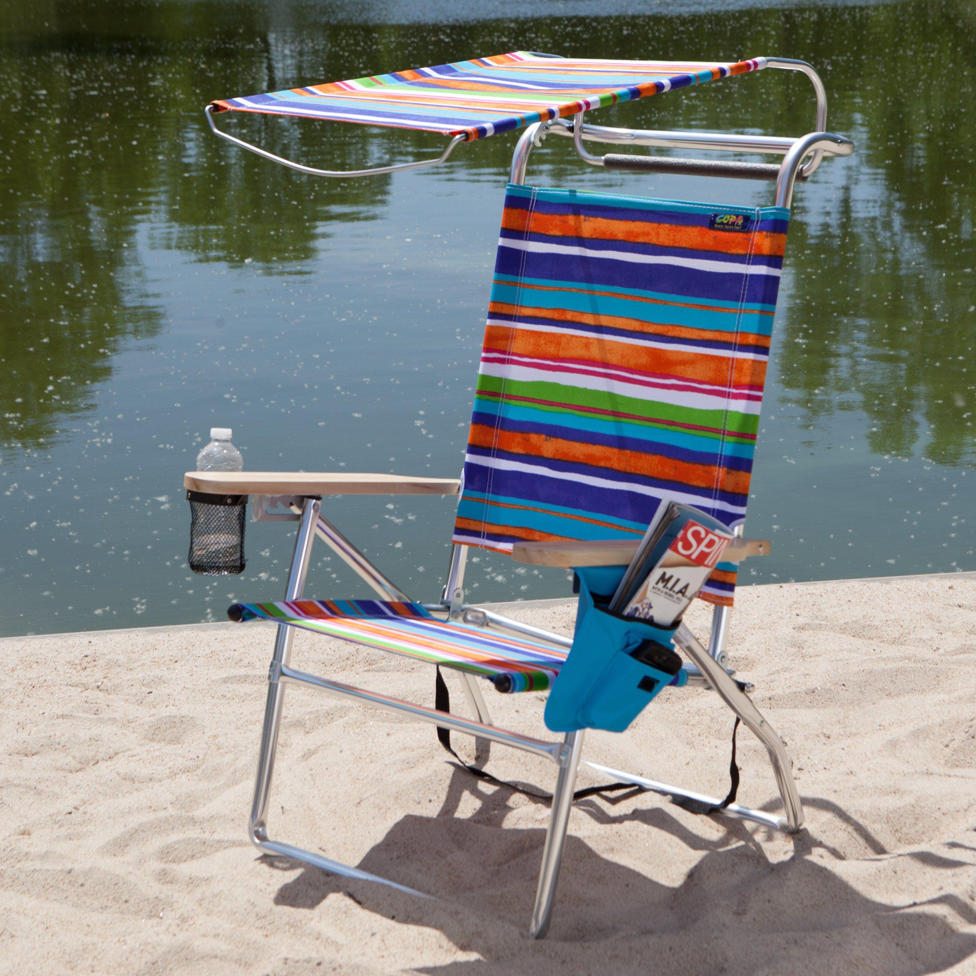 Copa Deluxe Aluminum Canopy Beach Chair 79 00