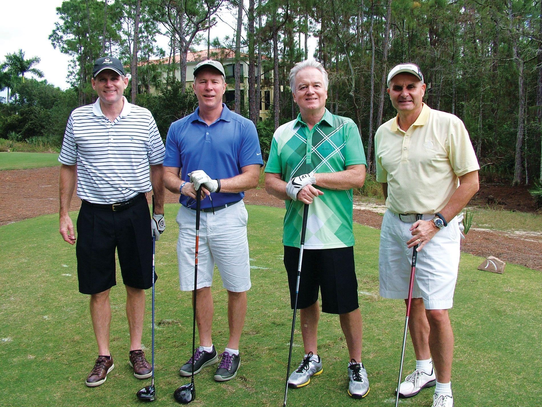 Jeff McWey, Left, GBS Enterprises; Marty Melcher, Serta; Dave Powers,
