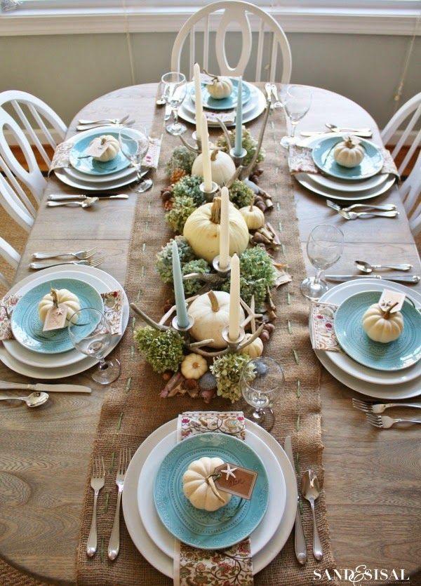 Coastal Thanksgiving Table
