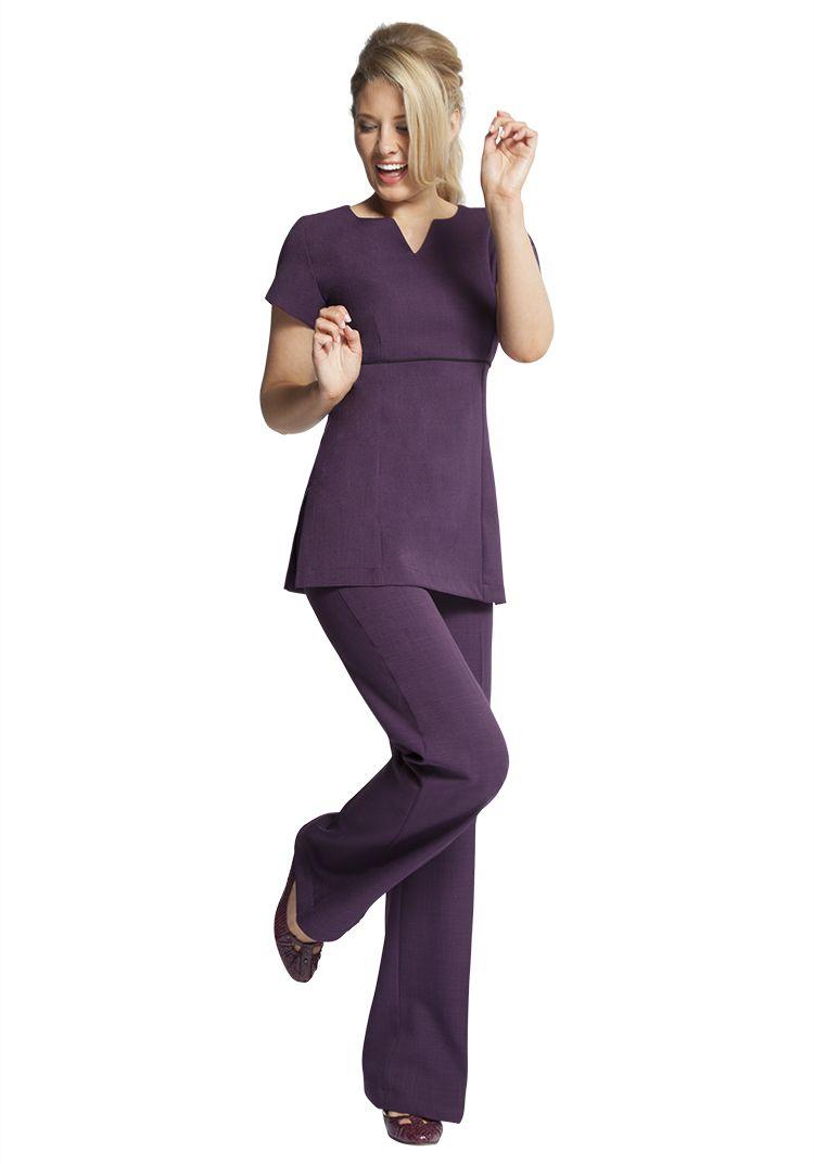Florence roby beauty uniforms beauty tunics salon wear for White spa uniform uk