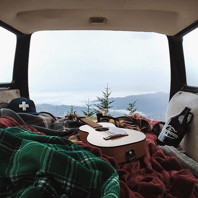 Adventure Is Out There Camp In The Mountains With Cozy Blankets And A Beautiful View