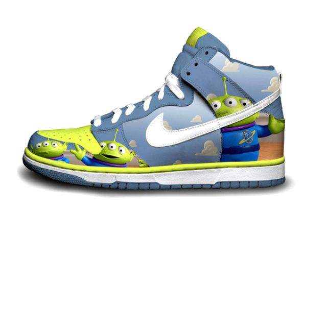best service 807d5 3f605 The Alien Things from Toy Story, on Nike Dunks.