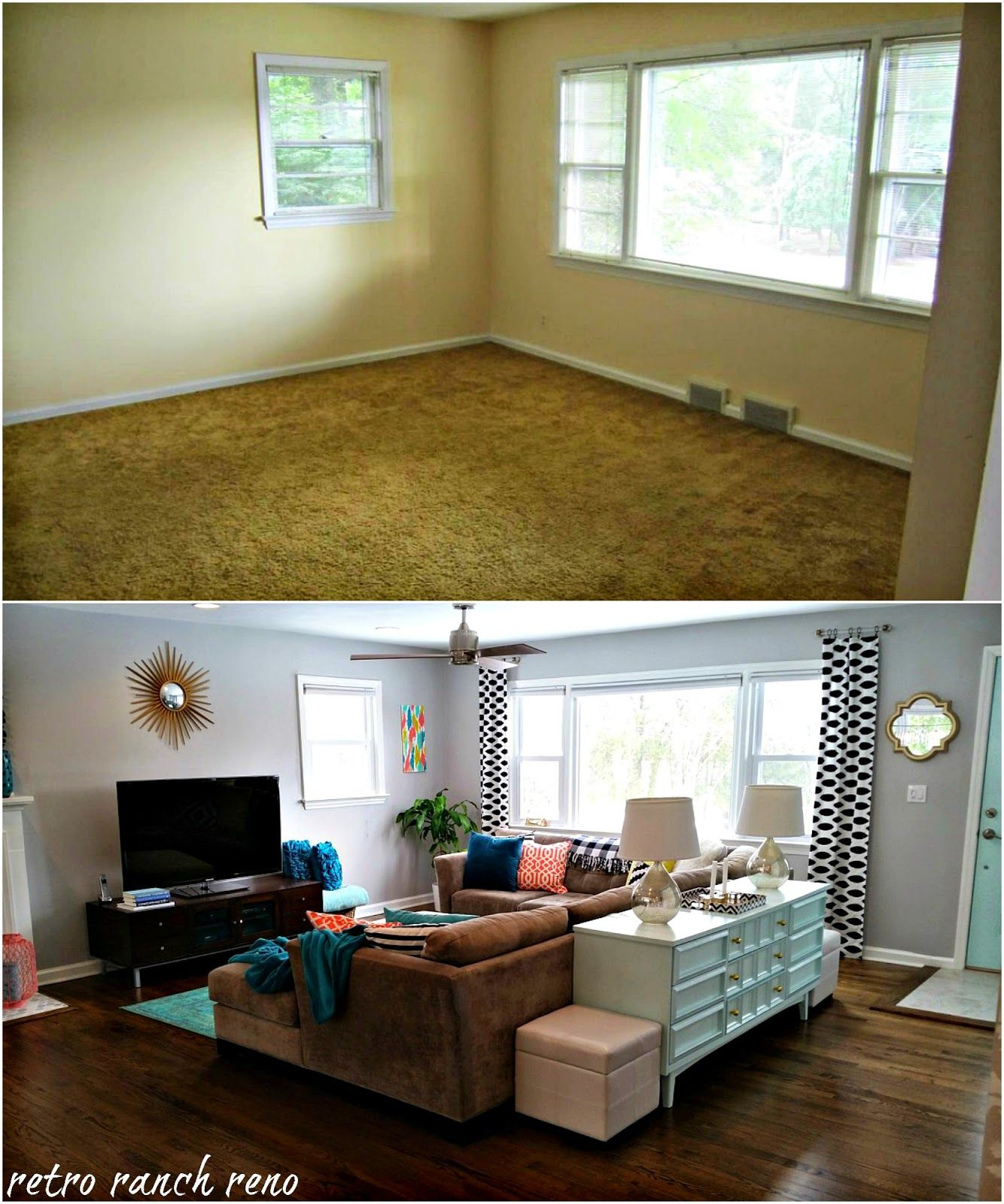 Our Rancher Before After The Living Room Small Living Room