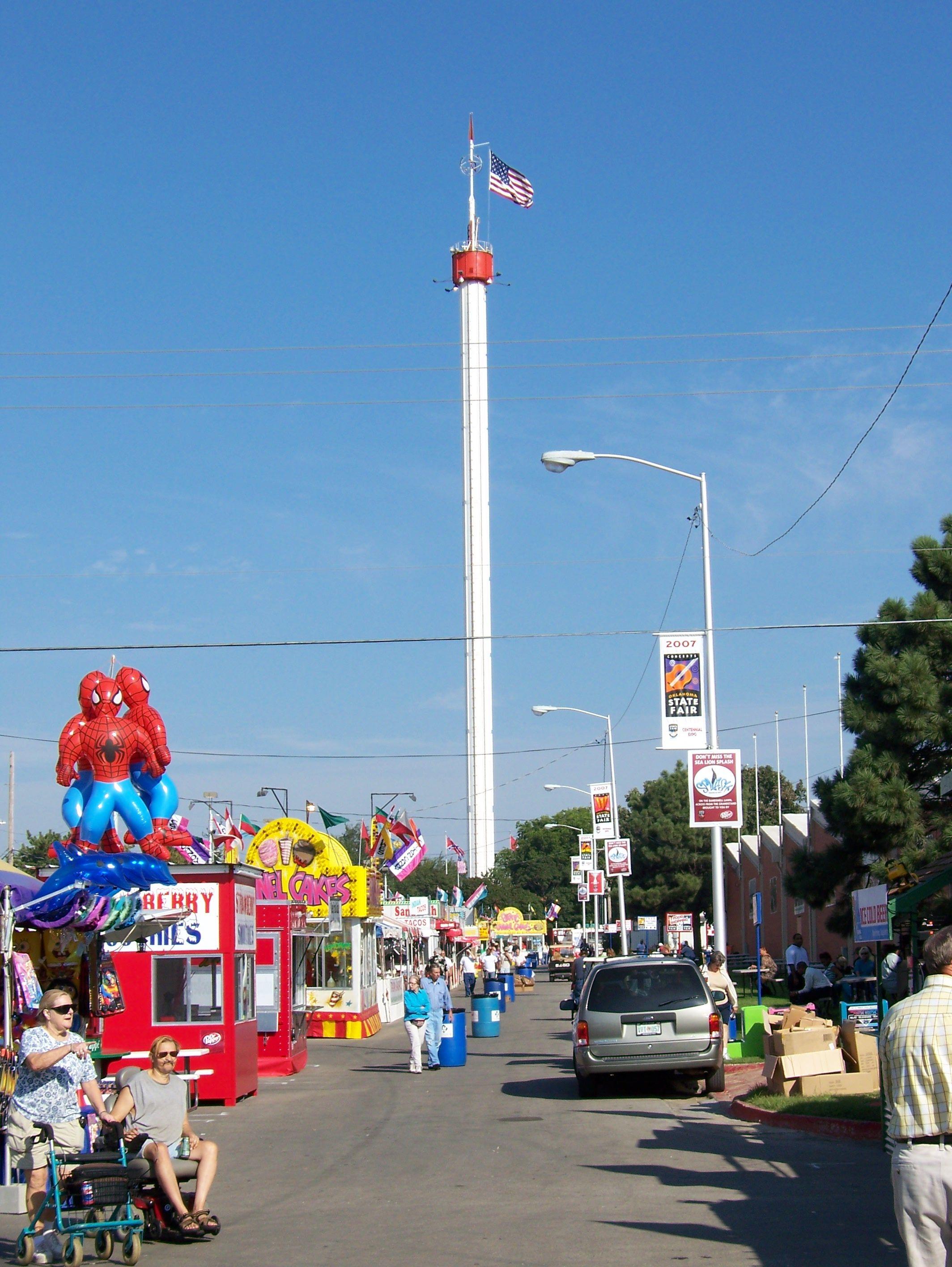 Space Needle Ok State Fair Oklahoma Space Needle Summertime Fun