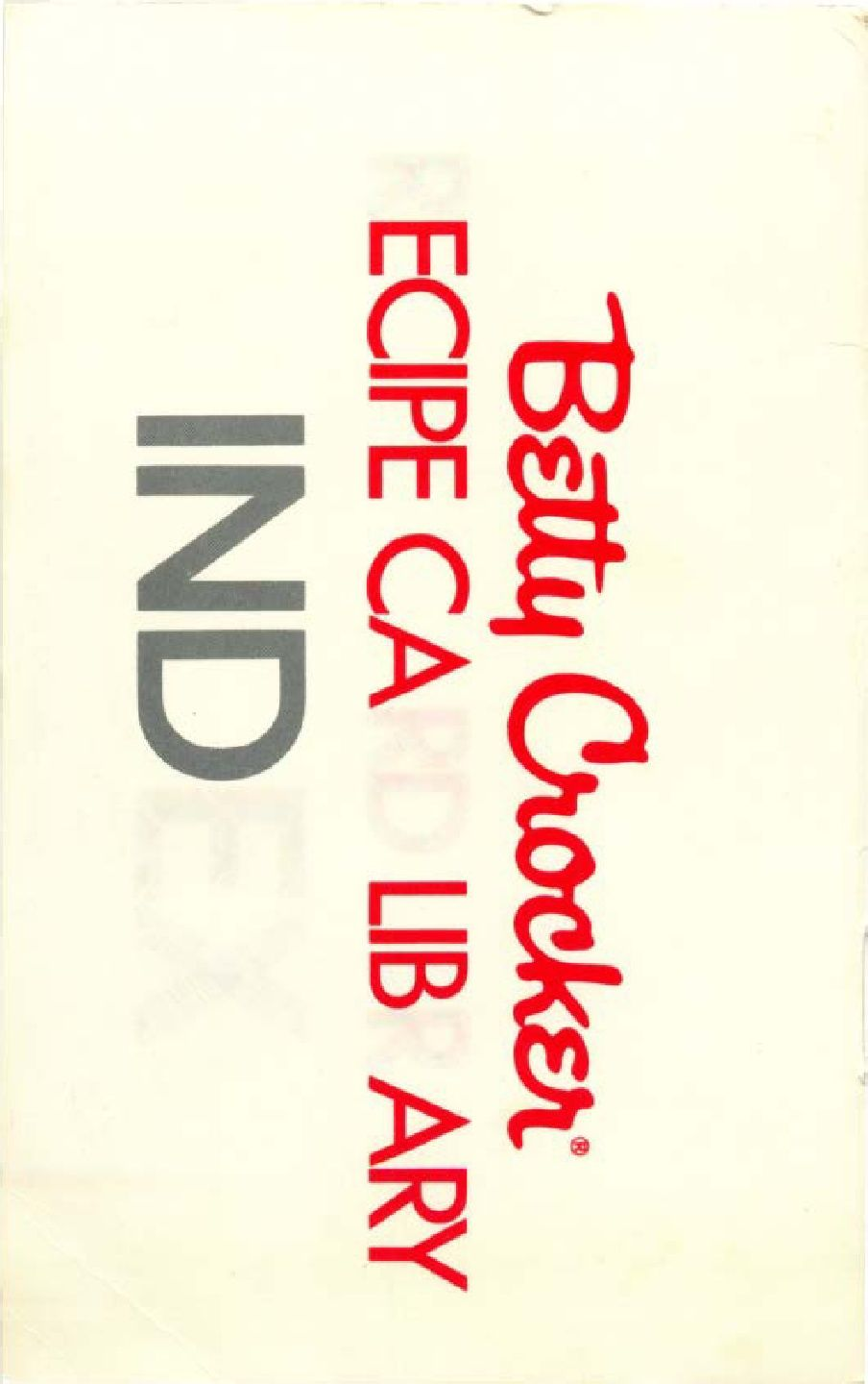 Index - Betty Crocker Recipe Card Library