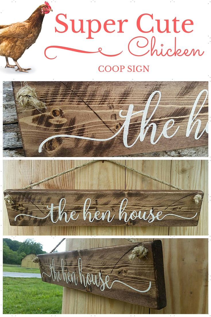 The Hen House - A charming chicken coop sign.