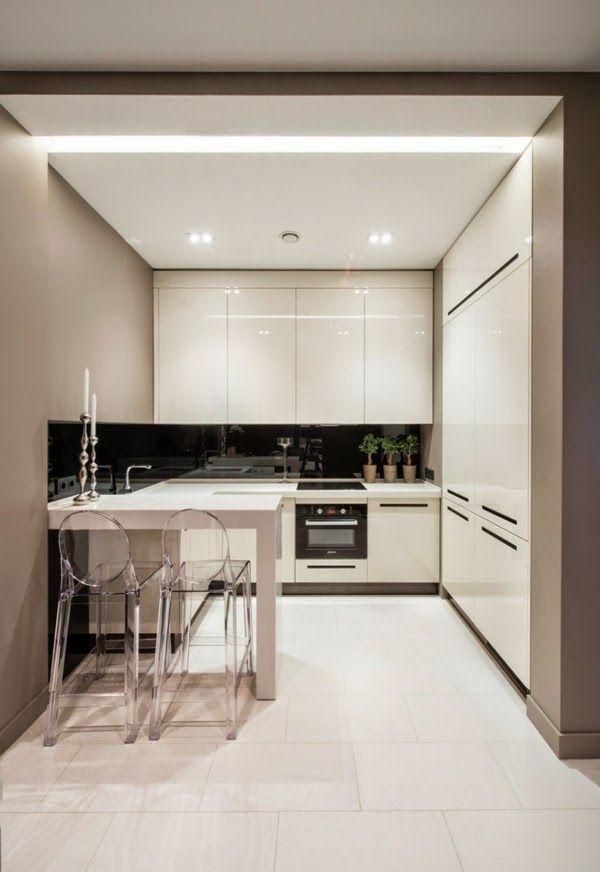 Ultra Modern Small Kitchen Design White Color Ideas Furniture