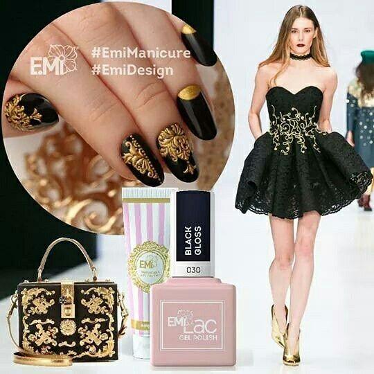 Oggi non Black&White ma Black&Gold! #EMi raggiunge l'apice dell'eleganza accostando nero e oro con decori barocchi in rilievo! Potrai trovare questi prodotti sul nostro sito per creare questa e tante altre decorazioni www.blackandwhitenails.it