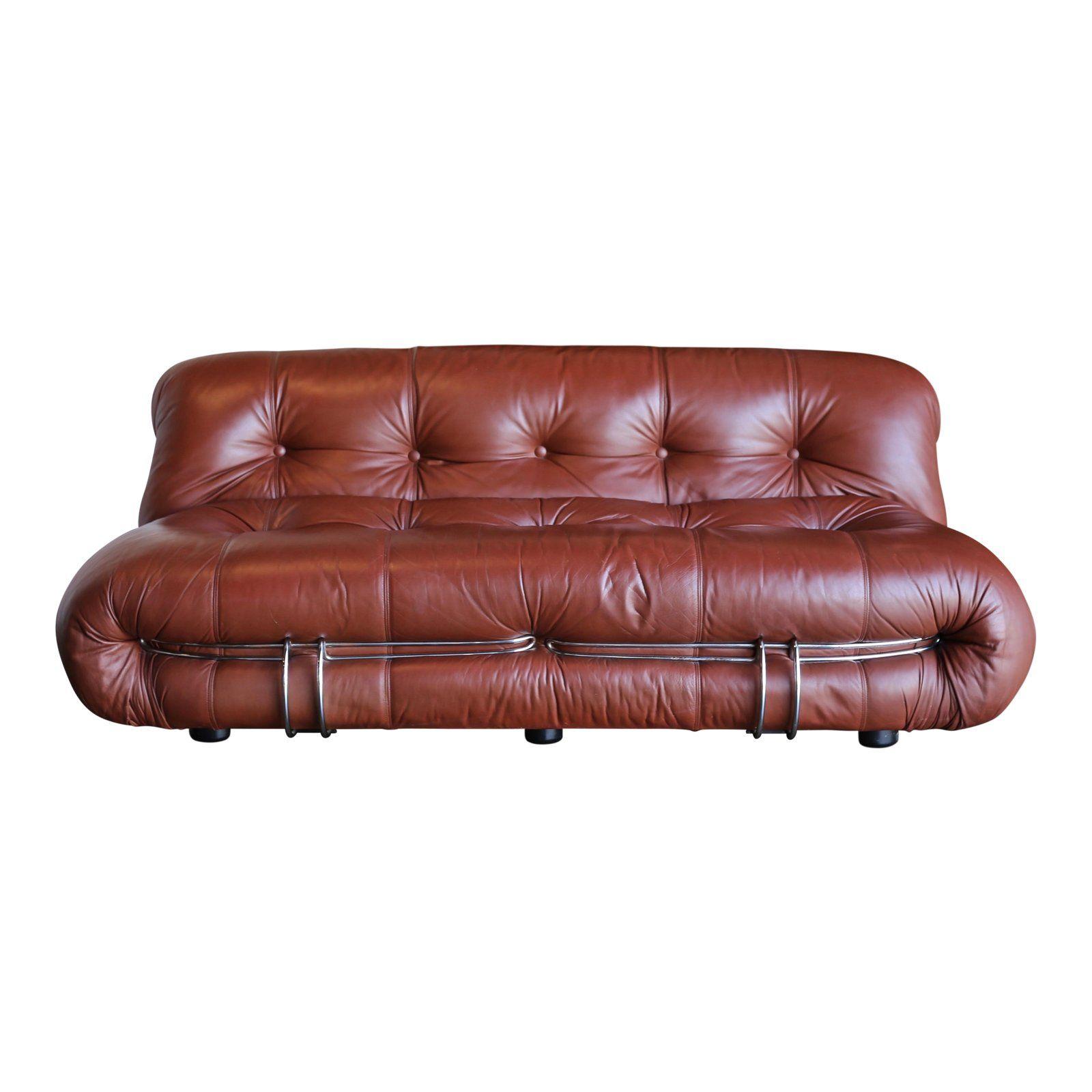 Mid Century Modern Afra Tobia Scarpa For Cassina Soriana Settee Chairish Cassina Settee Modern Leather Sofa
