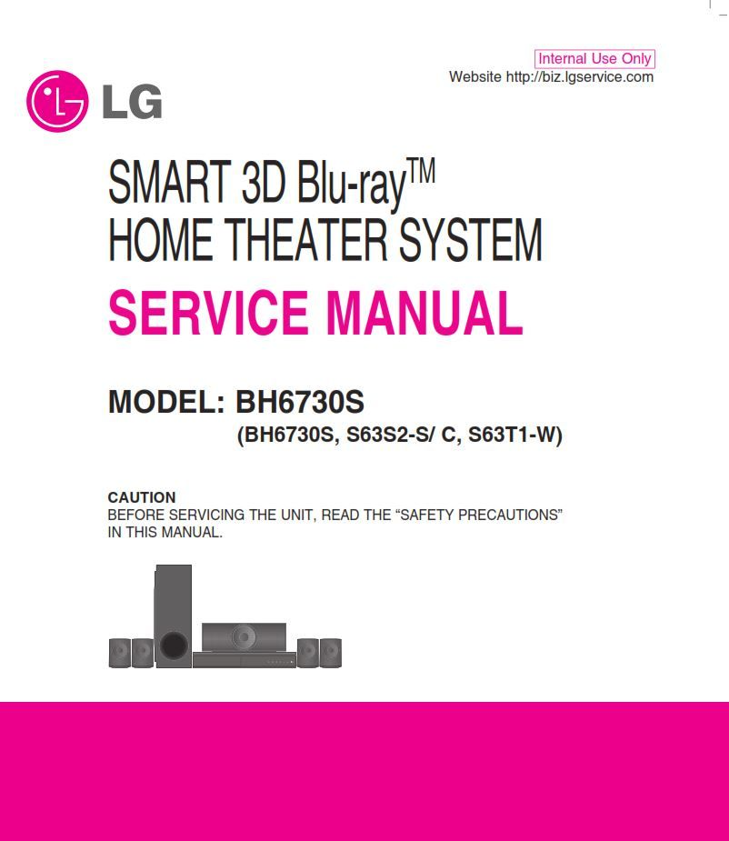 LG BH6730S Home Theater System Original Service Manual and Repair  Instructions in 2020   Home theater, Repair guide, Home theater systemPinterest
