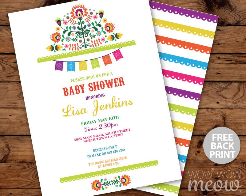 Fiesta Baby Shower Invitations Mexican Invite INSTANT DOWNLOAD ...