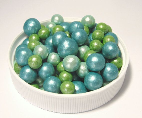 Cake Decor Pearls : Peacock colored edible Pearls - Cake Decoration, Cupcake ...