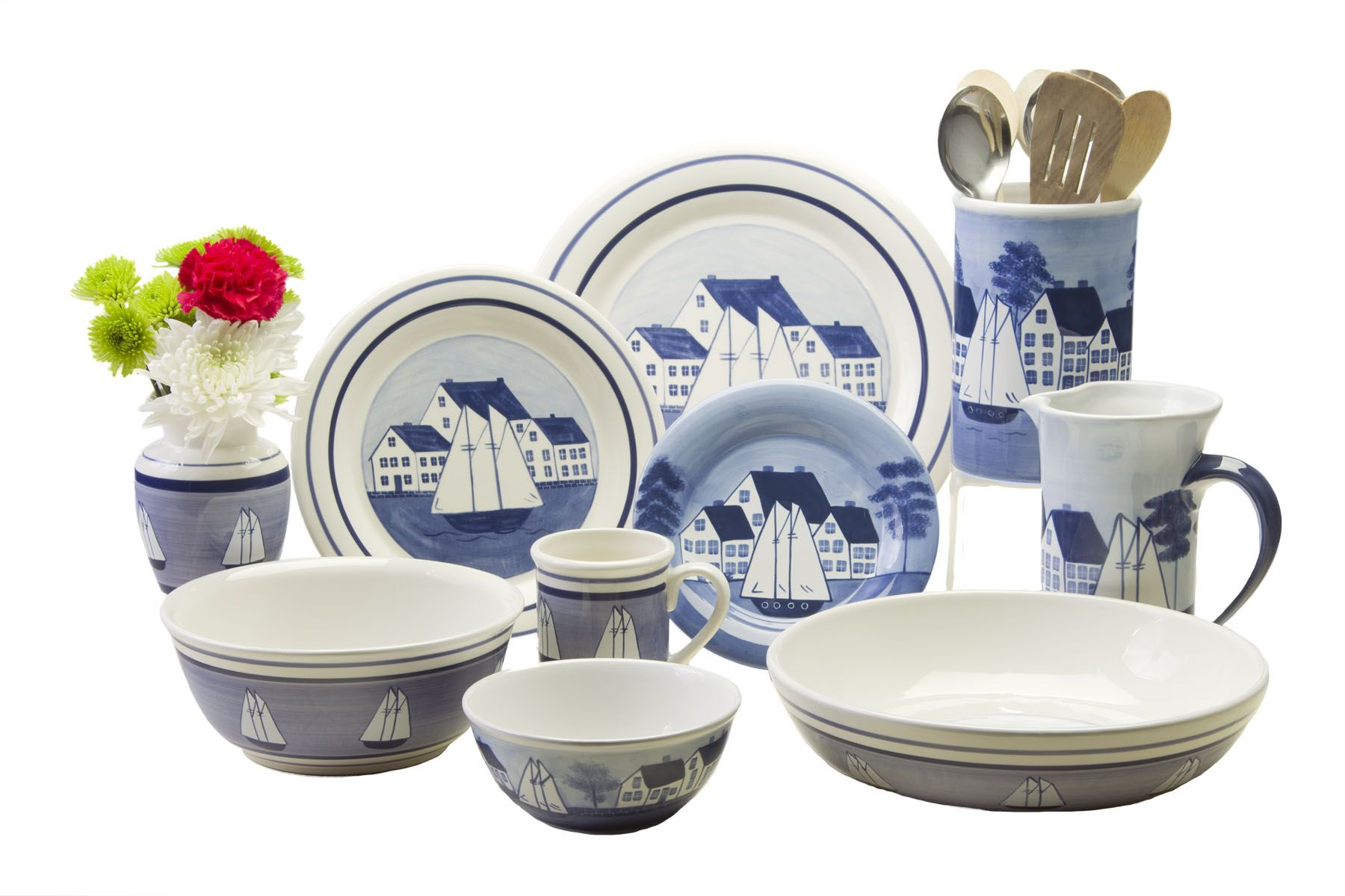 Coastal Village Dinnerware Blue and white dishes sailboat dishes coastal dishes  sc 1 st  Pinterest & Coastal Village Dinnerware Blue and white dishes sailboat dishes ...