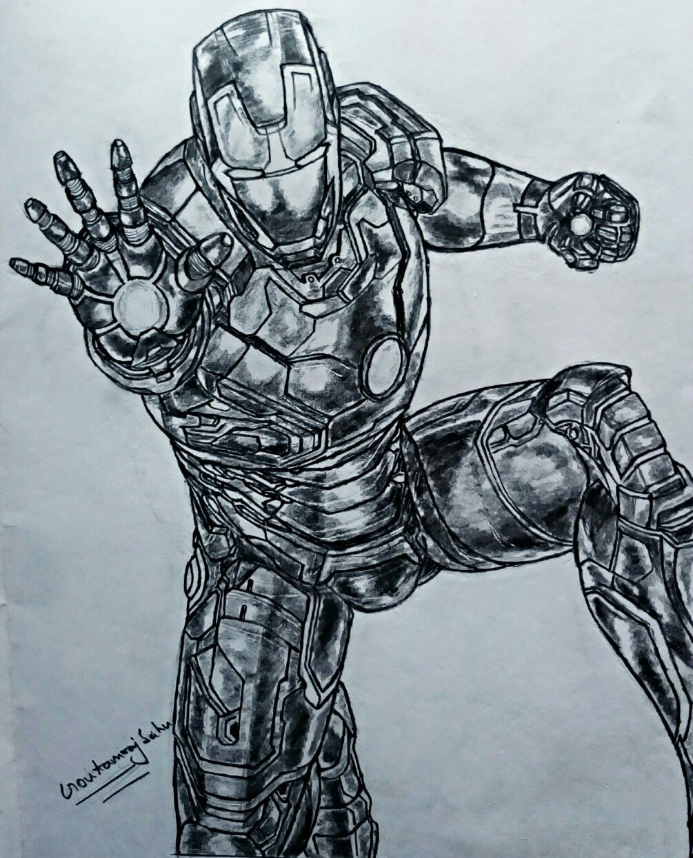 Iron man drawing   Iron man drawing, Pencil drawings, Drawings