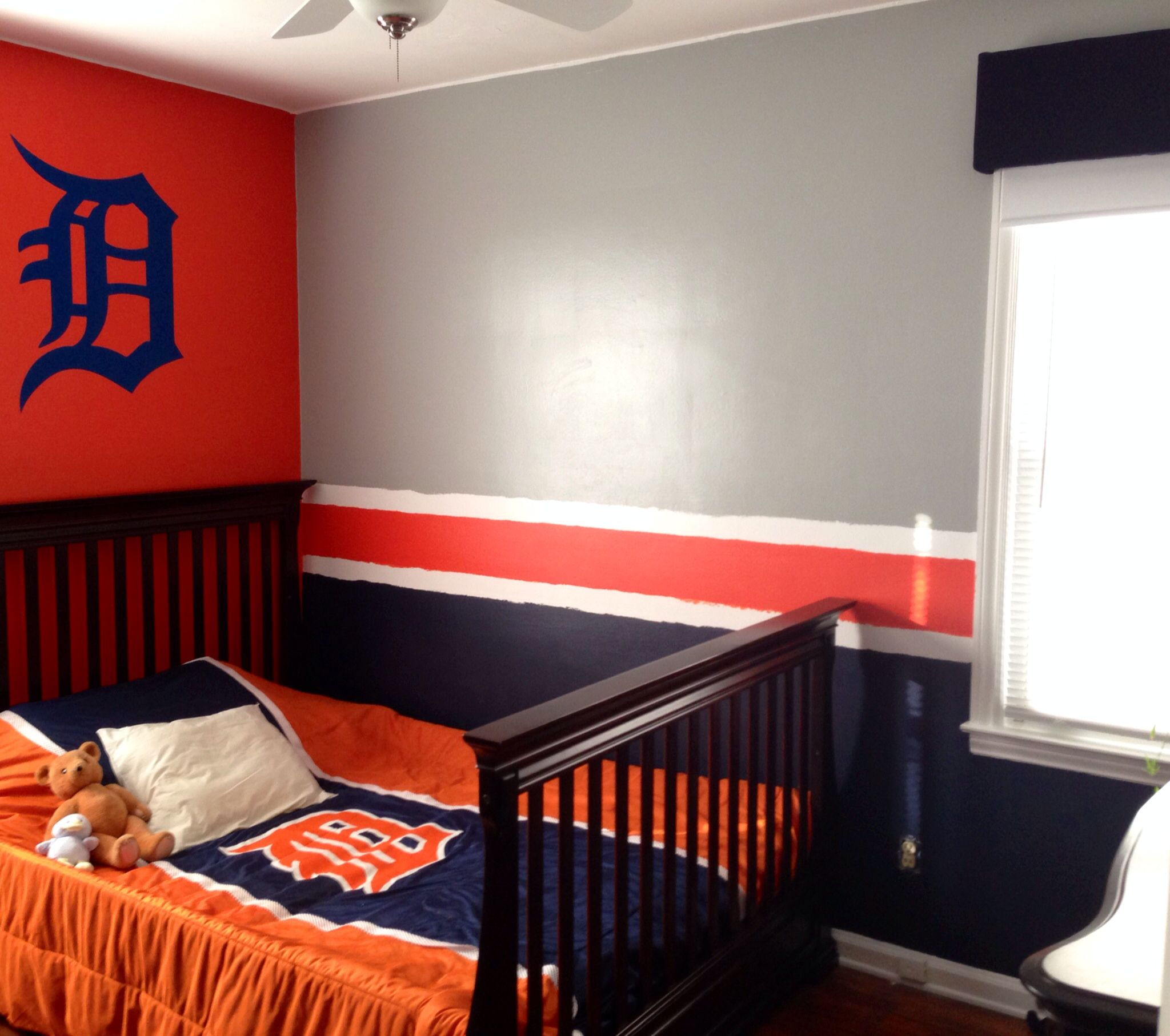 Detroit Tigers Baseball Bedroom Boy s Room with Detroit Old English D created by N A G Kreationz