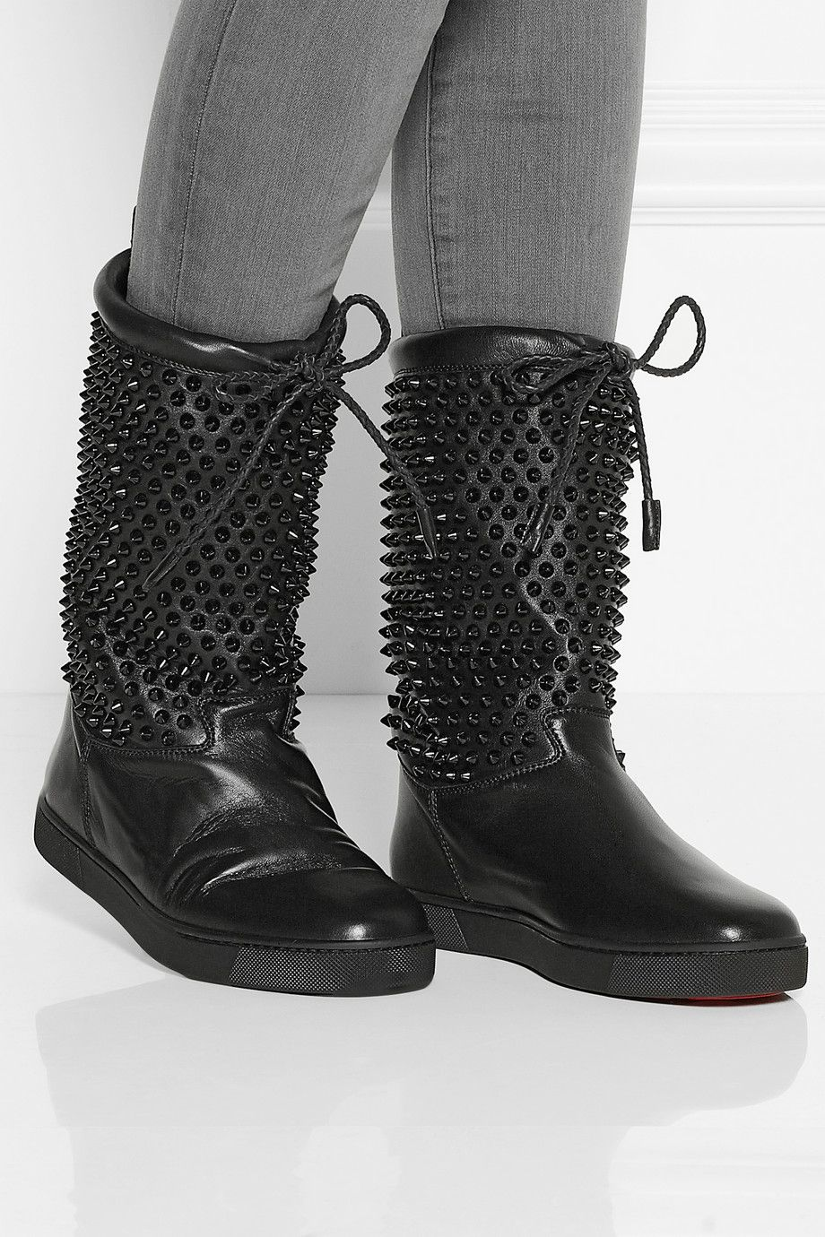 Christian Louboutin Surlapony Spiked Boots brand new unisex online cheap sale order cheap prices authentic uGdWLH7
