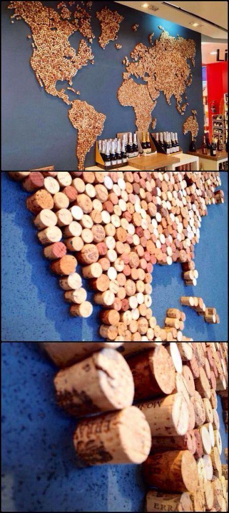 43 DIY Weinkorken Bastelideen: Upcycle Weinkorken in Decor Art  #Art #Cork # Co