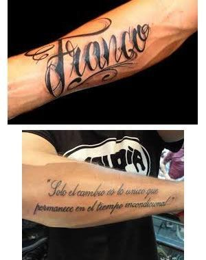 Tatuajes Para Hombres En El Brazo Nombres Diseño Y Foto Tatuajes