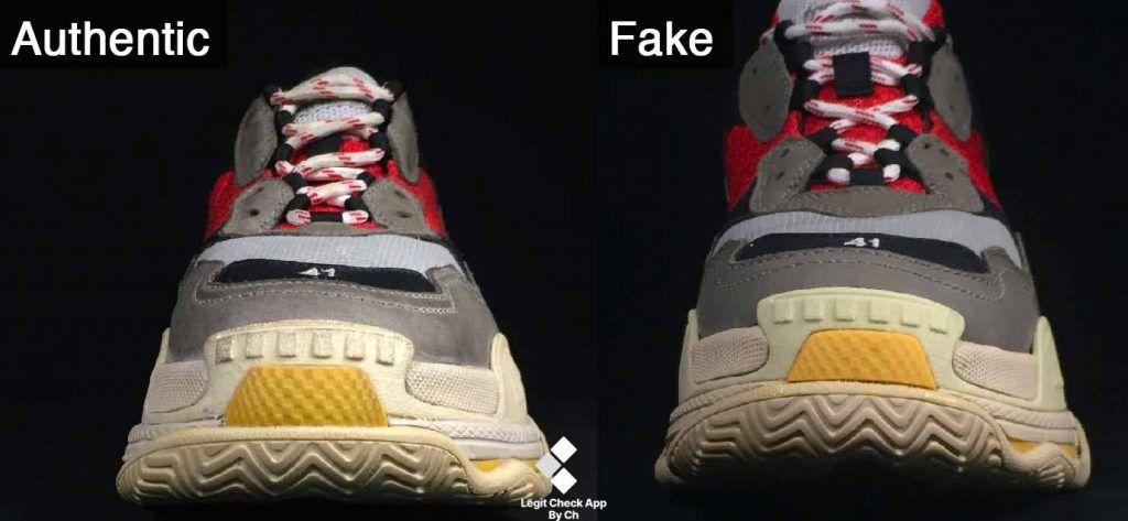 real vs fake balenciaga triple s