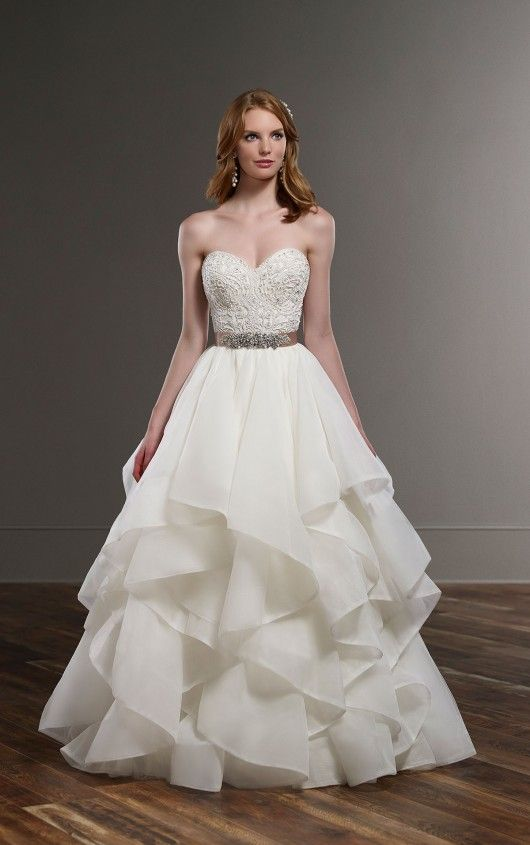Trending Wedding Dress Separates Lace Top and Silk Skirt