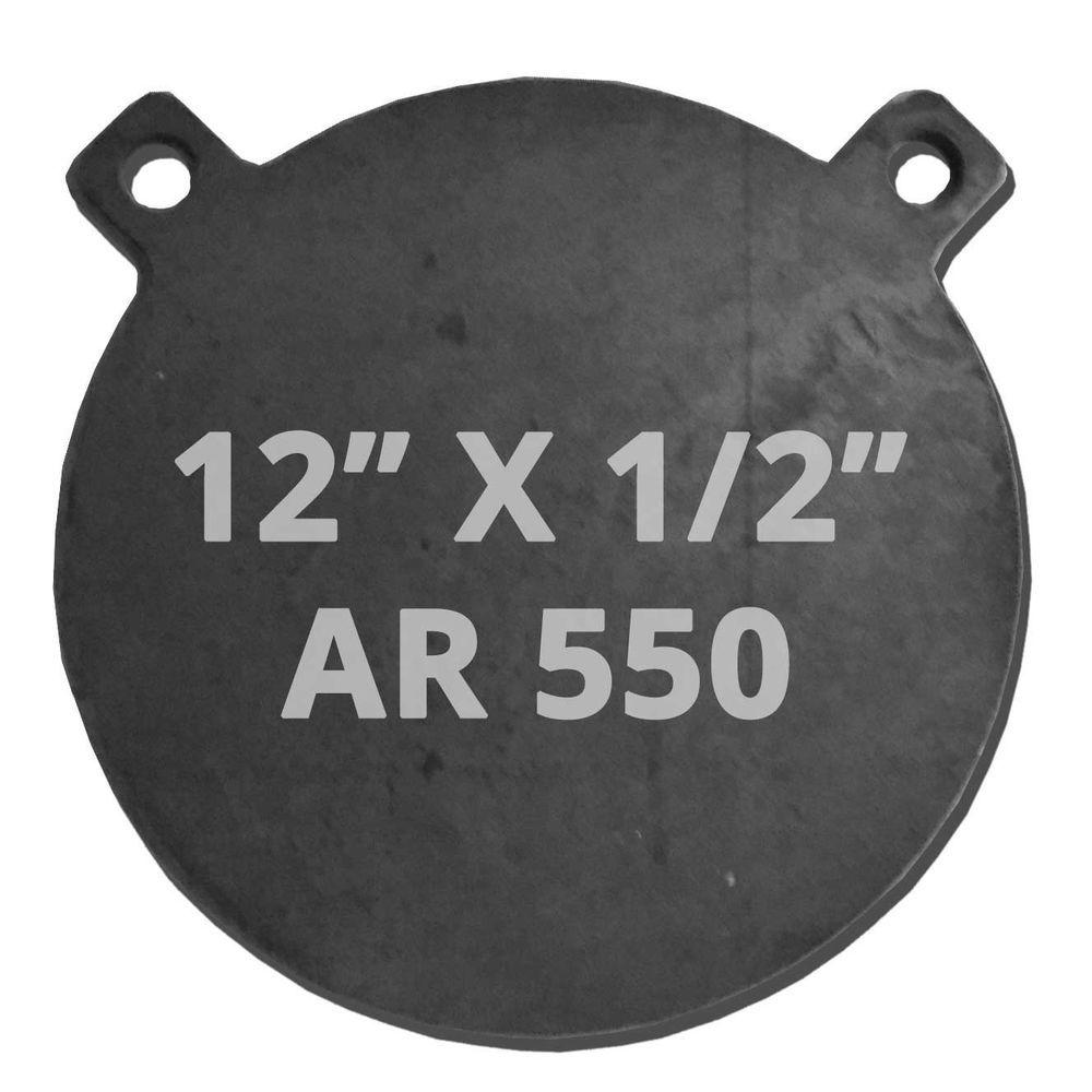 12 Diameter Ar550 Gong Round Steel Shooting Target 1 2 Thick Ar500 New Steel Shooting Targets Shooting Targets Ar500