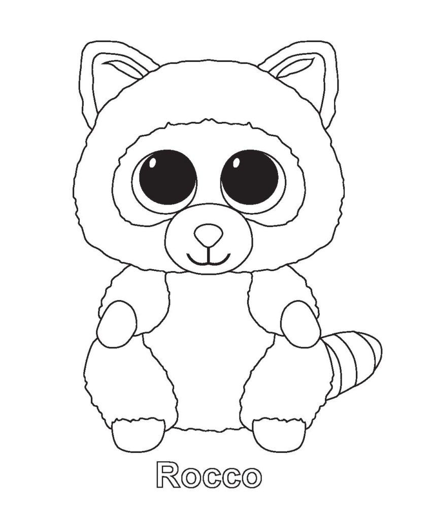 Coloring Rocks Beanie Boo Birthdays Penguin Coloring Pages Beanie Boo Party