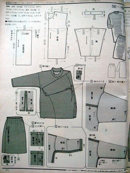 Pin de Lora en выкройки одежды- 3 | Pinterest | Patrones, Moda ...