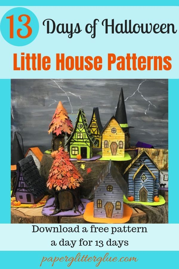 Medieval Haunted House - Halloween Paper House No. 4 - Paper Glitter Glue