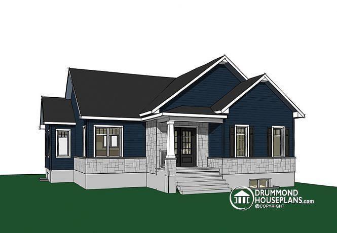 W3133 V6 Craftsman house plan open floor plan concept three