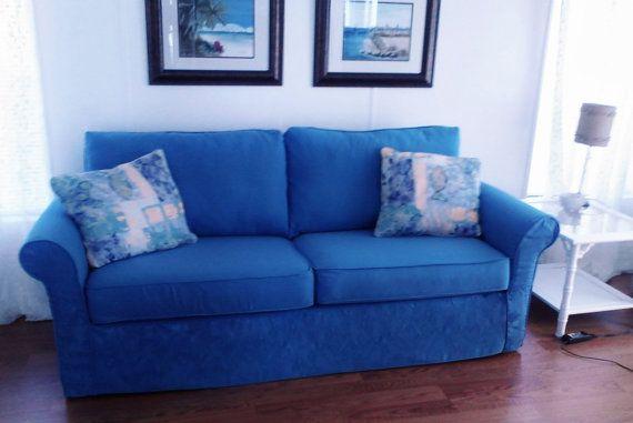 Sensational Sofa Slipcover 61 90 Wide 2 Seat Cushion 2 Back Cushions Denim Via Etsy Custom Sofa Slipcovers Sofa Seat Cushions Cushions On Sofa Slipcovers for loveseats with 2 cushions