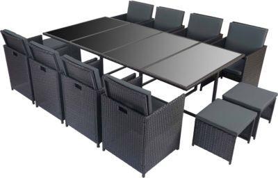 Heute Wohnen Poly Rattan Garten Garnitur Kreta, Lounge Set Sitzgruppe 12  Sitzplätze Jetzt Bestellen Unter: ...