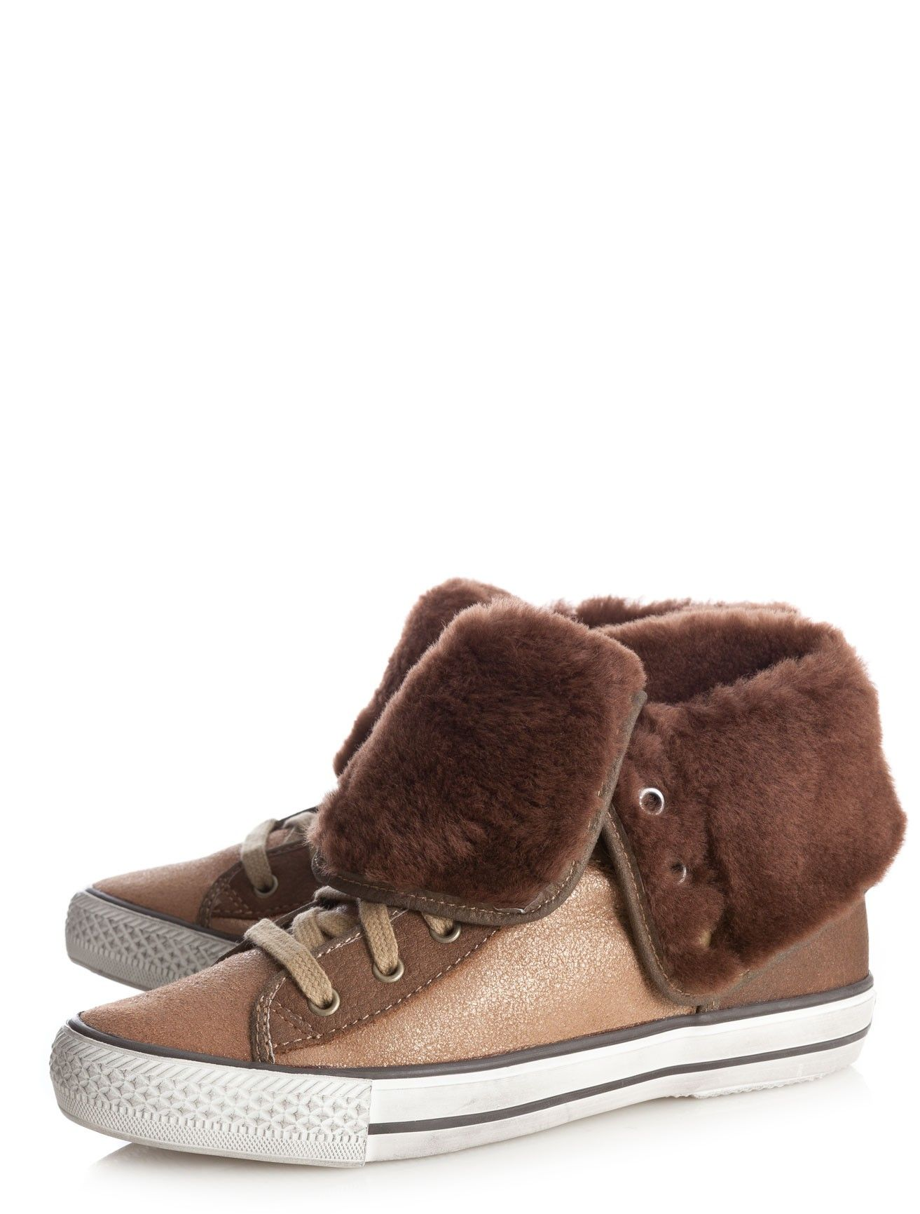 Vanna Shearling Lace Up Sneakers by Ash | | Scoop NYC
