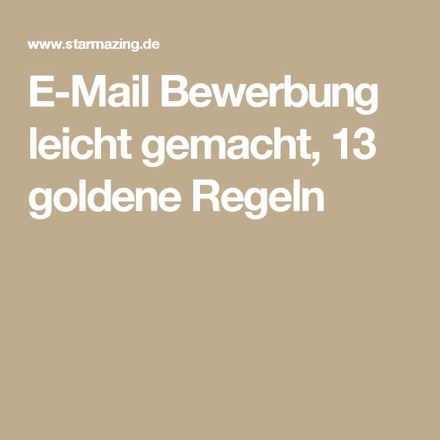 E Mail Bewerbung Leicht Gemacht 13 Goldene Regeln Business