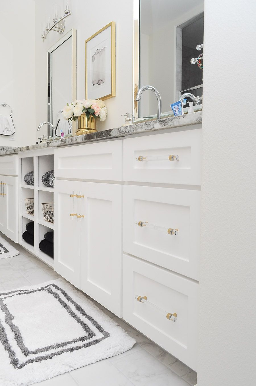 Diy Chrome To Brushed Brass Cabinet Hardware Brass Cabinet