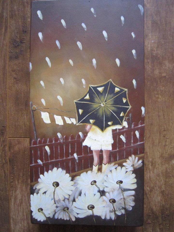 Pluie de marguerites patron d 39 artiste de peinture sur for Peinture sur bois