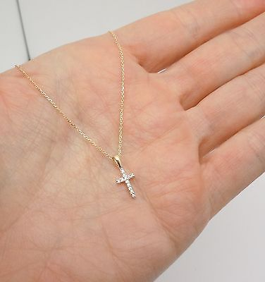 brilliant Micro pave Cubic Zircon white gold plated cross pendant necklace A14