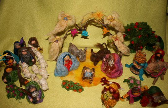Presepe in lana cardata tutorial - Maria, Giuseppe, Gesù bambino, i pastori e i Re Magi