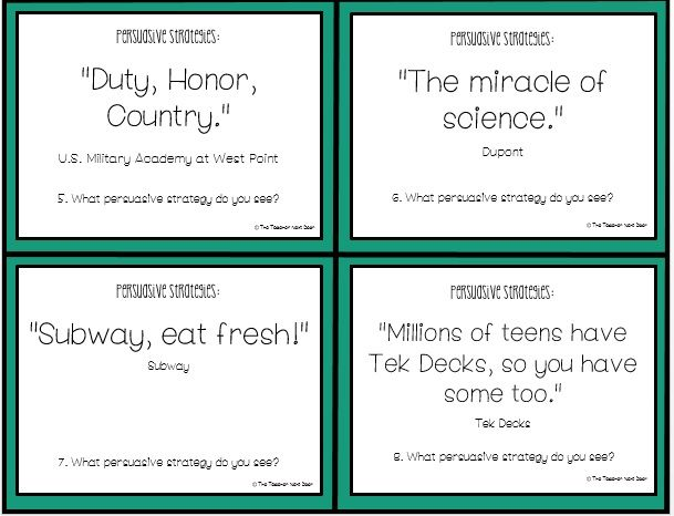 task cards opinion piece persuasive writing th th grade  set of 32 persuasive writing task cards kids business slogans and identify the persuasive