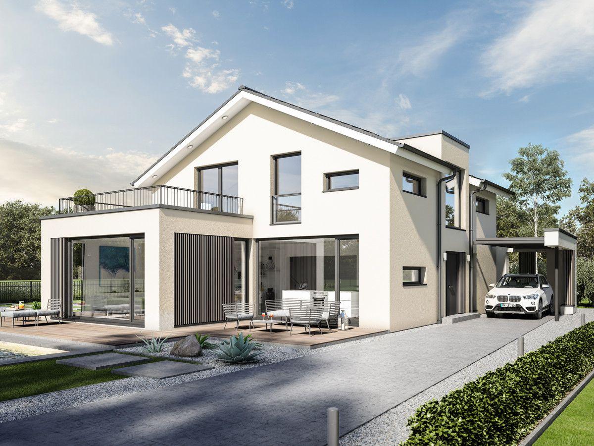 Designhaus mit satteldach haus concept m 154 bien zenker for Modernes haus bauen